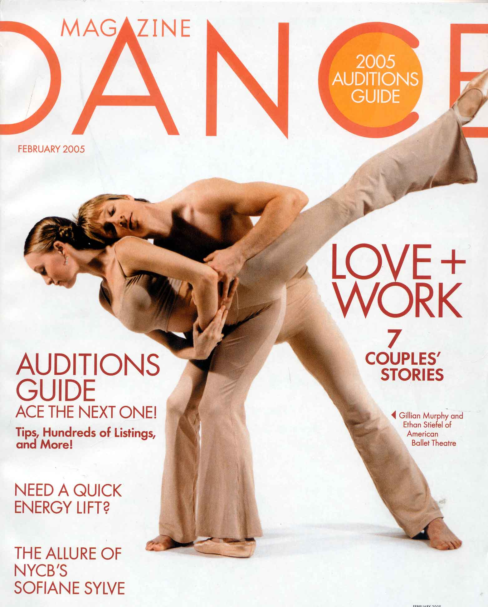 Gillian and Ethan on the cover of Dance Magazine, February 2005.