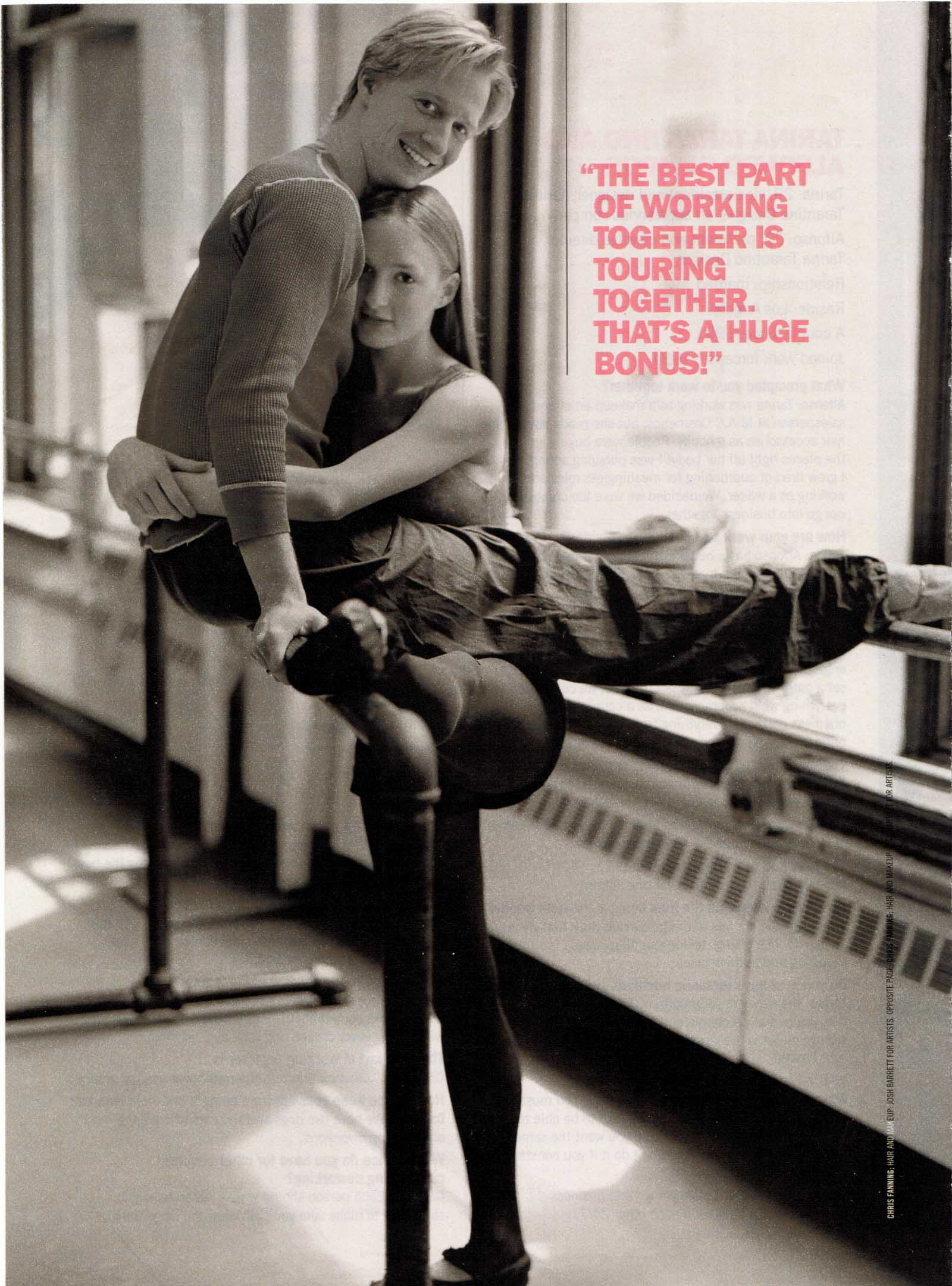 Gillian and boyfriend Ethan Stiefel in Glamour Magazine.