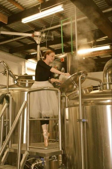 Gillian at the Brewery for Bier Halle.
