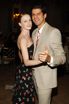Gillian with Marcelo Gomes.