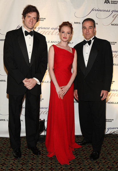 Gillian at the Princess Grace Awards Ceremony with Adam Rapp and Mandy Patinkin (Photo by Matthew Peyton/Getty Images North America)