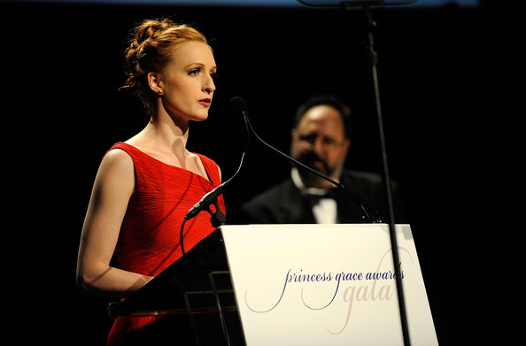 Gillian speaks at the Princess Grace Awards Ceremony (Photo by Larry Busacca/Getty Images North America)