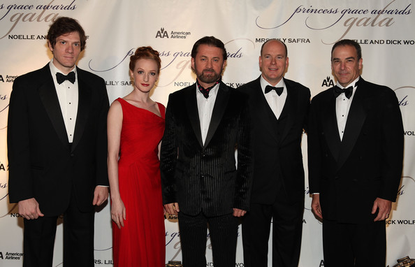 Gillian at the Princess Grace Awards Ceremony with Adam Rapp, Alex Soldier, HSH Prince Albert II of Monaco, and Mandy Patinkin (Photo by Matthew Peyton/Getty Images North America)