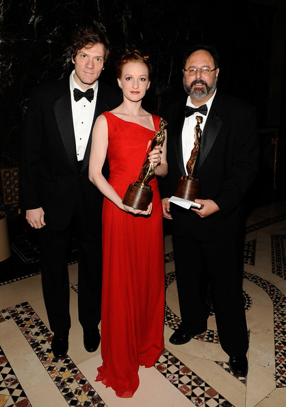 Gillian at the Princess Grace Awards Ceremony with Adam Rapp and Brian Kulick (Photo by Larry Busacca/Getty Images North America)