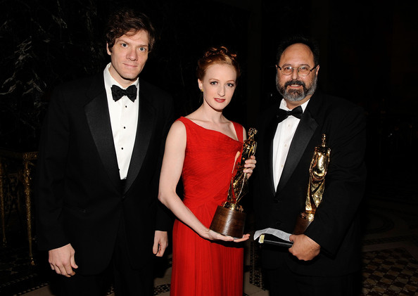 Gillian sat the Princess Grace Awards Ceremony with Adam Rapp and Brian Kulick (Photo by Larry Busacca/Getty Images North America)