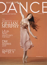 Gillian on the cover of the November 2009 Dance Magazine (poor scan)