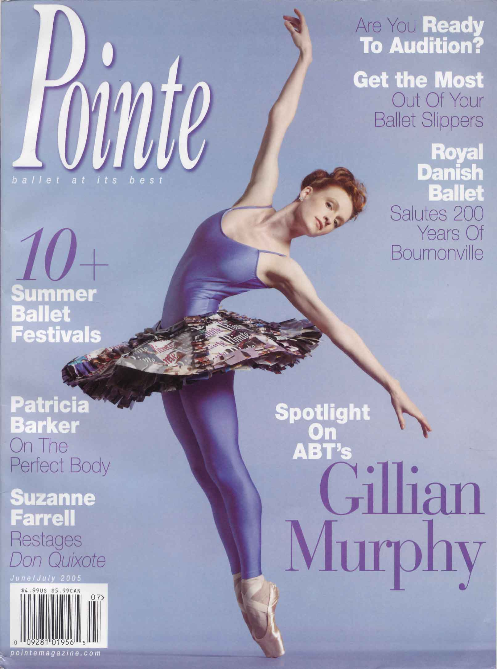 Gillian on the cover of Pointe Magazine, June 2005.