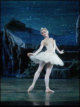 Gillian in Swan Lake, February 2005. Picture from the Washington Post