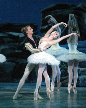 Gillian and Ethan in Swan Lake. Picture by Rosalie O'Connor.